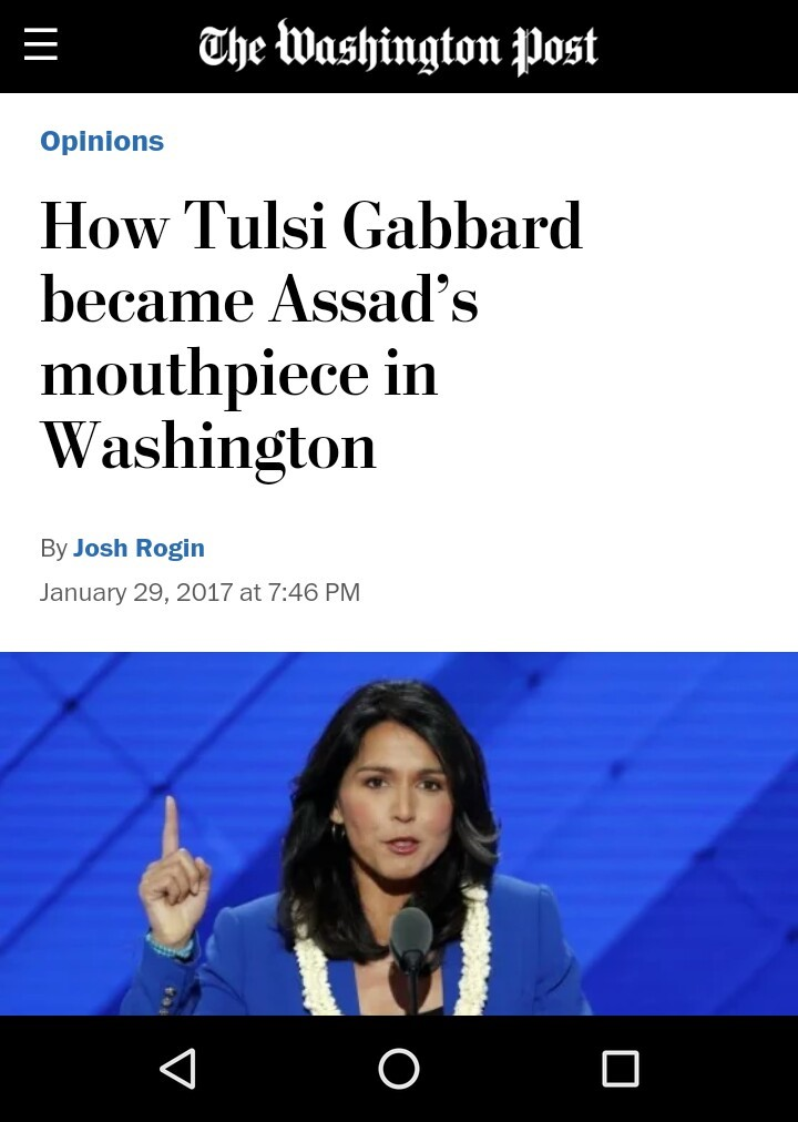 Tulsi Gabbard Syria